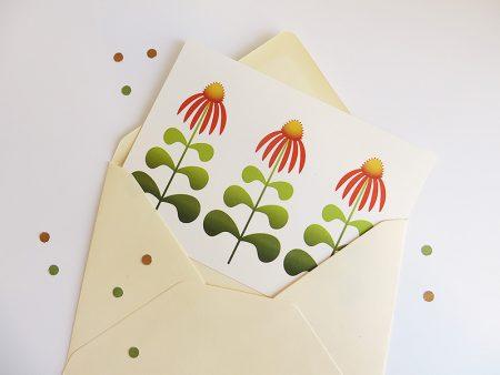 Wenskaart-Echinacea-in-envelop