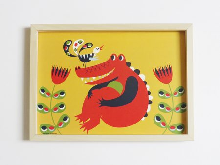 Prent-kinderkamer-Krokodil-1