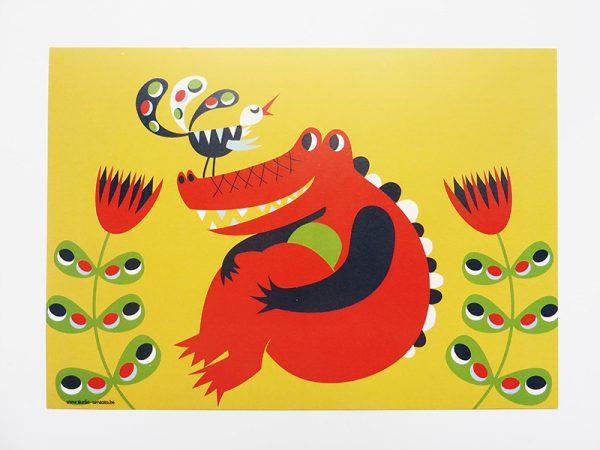 Prent-kinderkamer-Krokodil-2