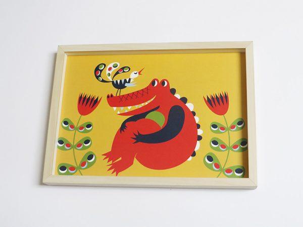 Prent-kinderkamer-Krokodil-3