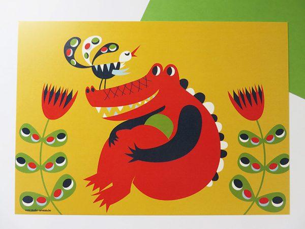 Prent-kinderkamer-Krokodil-4