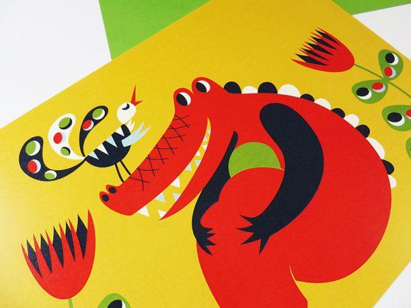 Prent-kinderkamer-Krokodil-5