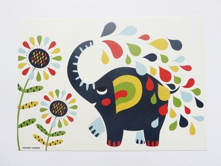 Prent-kinderkamer-Olifant-2