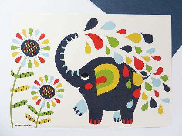 Prent-kinderkamer-Olifant-4