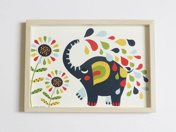 Prent-kinderkamer-Olifant
