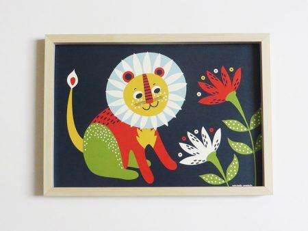 Prent-kinderkamer-leeuw