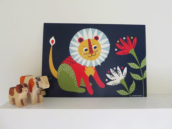 Prent-kinderkamer-leeuw-6