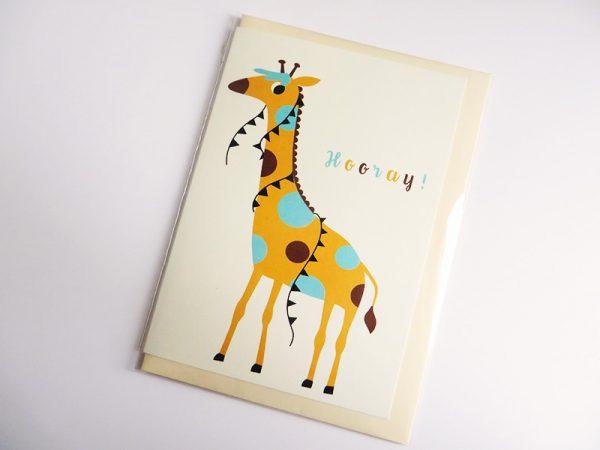 Wenskaart-giraf-in-verpakking