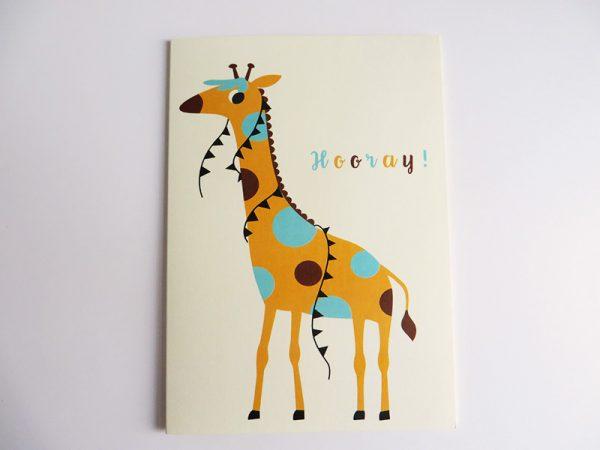 Wenskaart-giraf-liggend