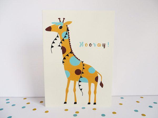 Wenskaart-giraf-staand