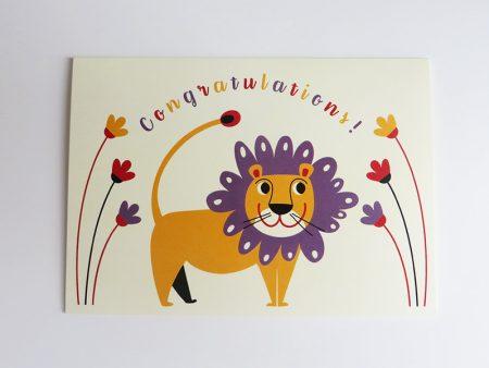 Wenskaart-leeuw-liggend