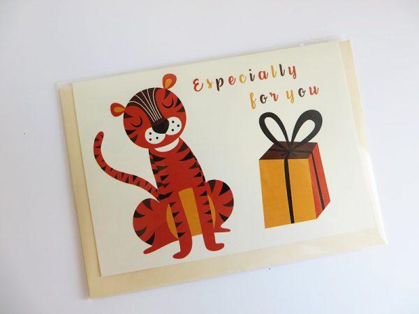 Wenskaart-tijger-in-verpakking