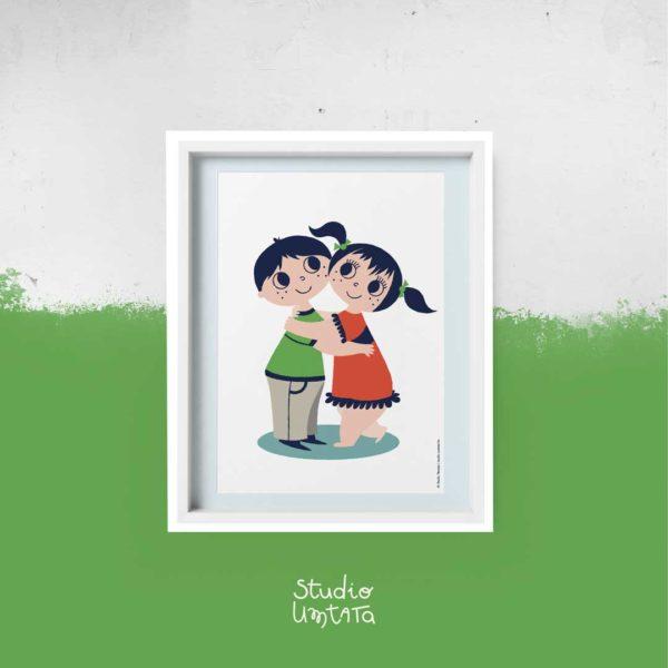 Poster knuffel big hug