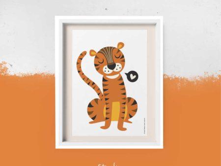 Poster retro tijger