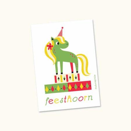 Wenskaart Feesthoorn