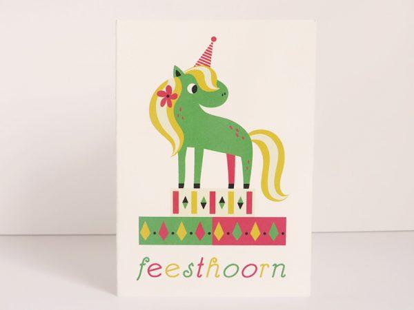 Wenskaart-Feesthoorn