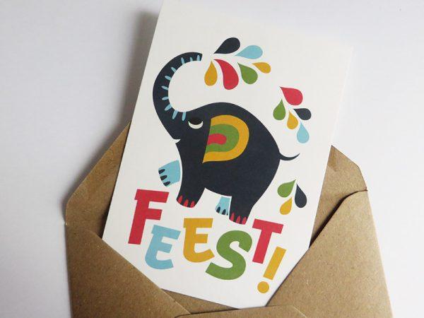 Wenskaart-Olifant-Feest-5