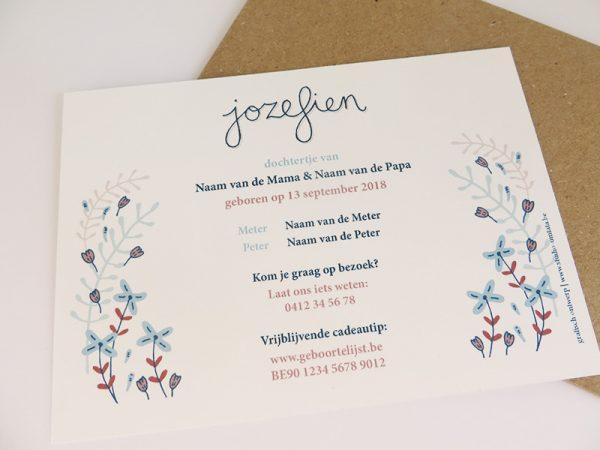 Geboortekaartje-Jozefien-Meisje-met-poes-en-bloemen-3