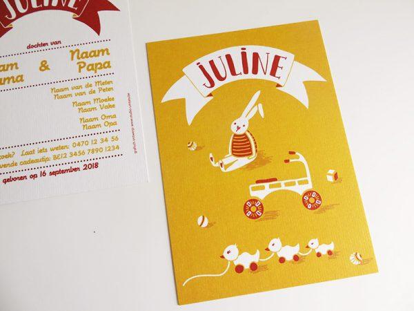 Geboortekaartje-Juline-Naam-met-speelgoed-1