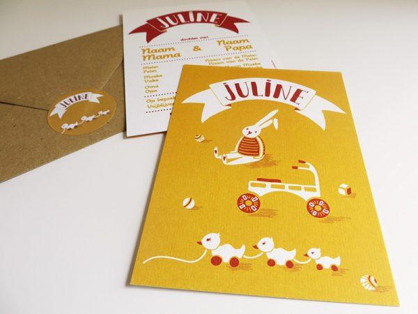 Geboortekaartje-Juline-Naam-met-speelgoed-3