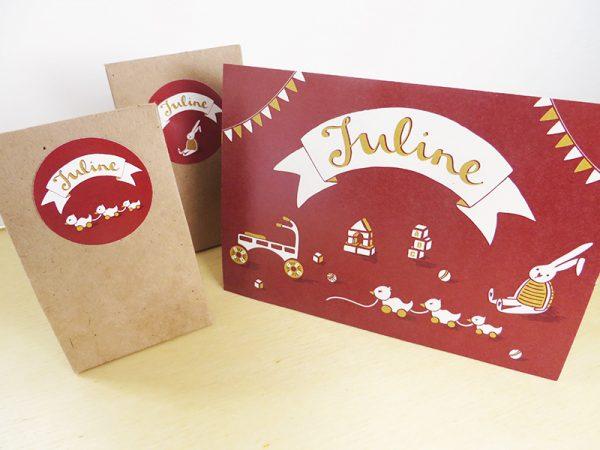 Geboortekaartje-Juline-Naam-met-speelgoed-4