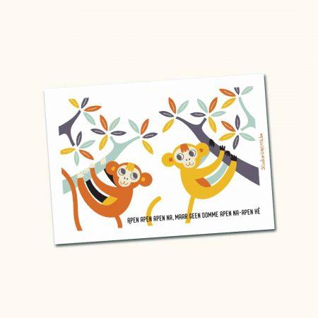 Kampkaartje Apen