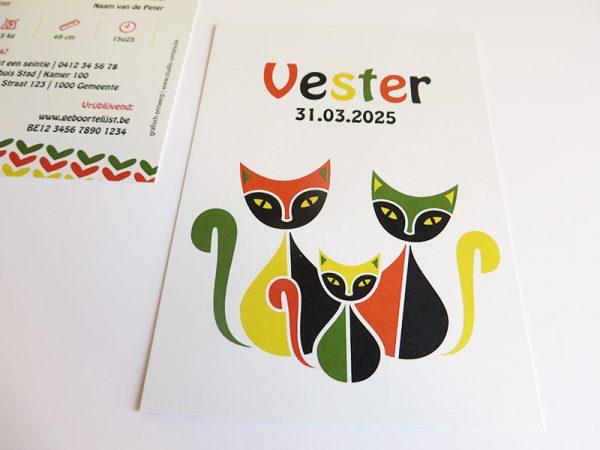 Geboortekaartje-Vester-met-retro-poezen-2