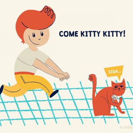 Come kitty kitty T-shirt design