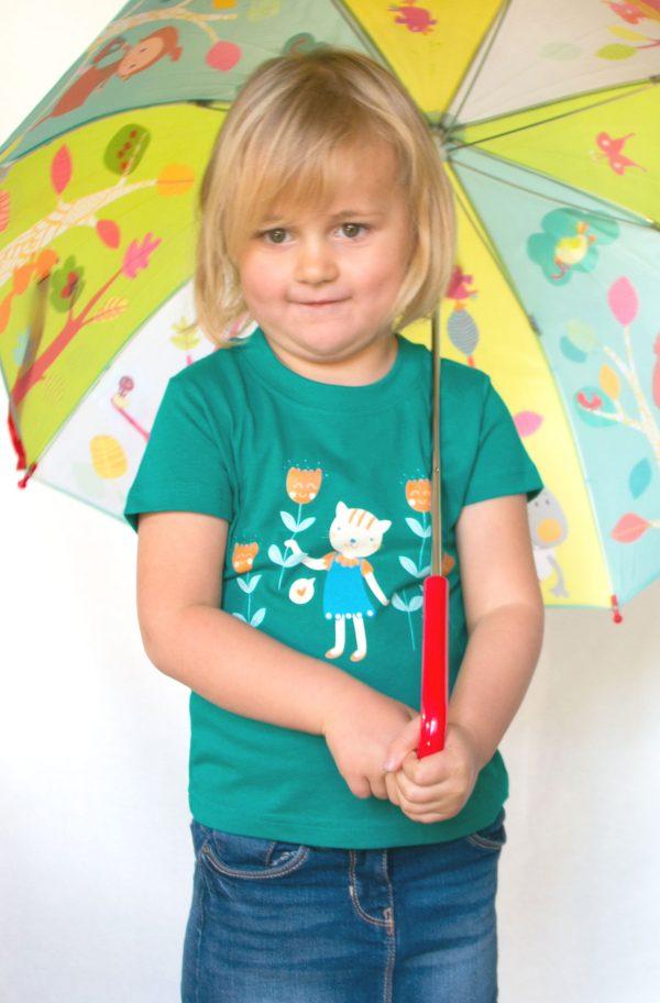 Flowers for you T-sjirt - Meisje van 3,5 jaar oud