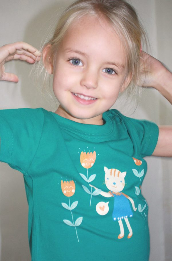 Flowers for you T-shirt - Meisje van 4,5 jaar