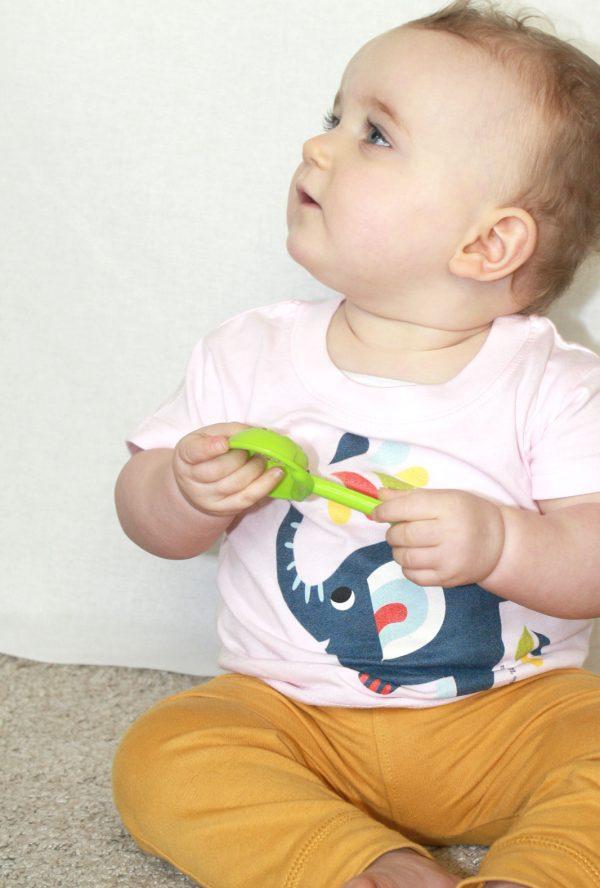 Little elephant T-shirt - Meisje van 11 maand