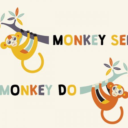 Monkey see Monkey do T-shirt - Design