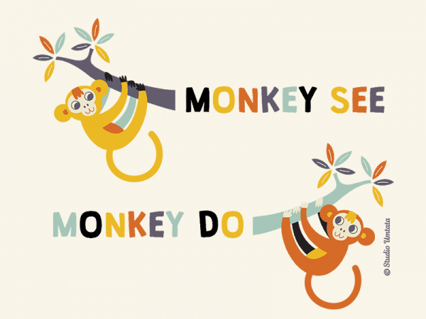 Monkey see Monkey do T-shirt - Design