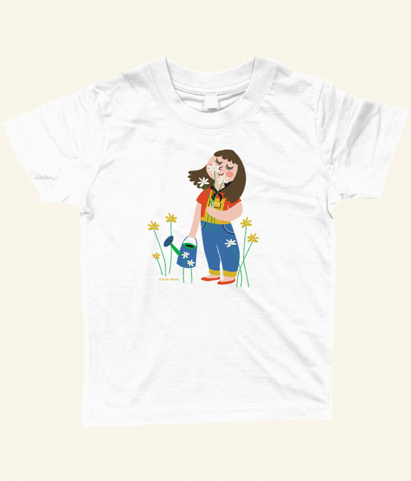 Sniffing flowers T-shirt