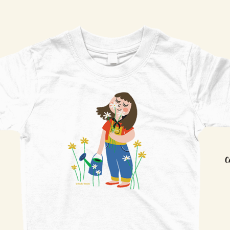 Sniffing flowers T-shirt - Coverfoto