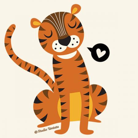 Tiger love T-shirt - Design