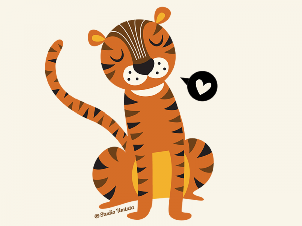 Tiger love T-shirt - Design