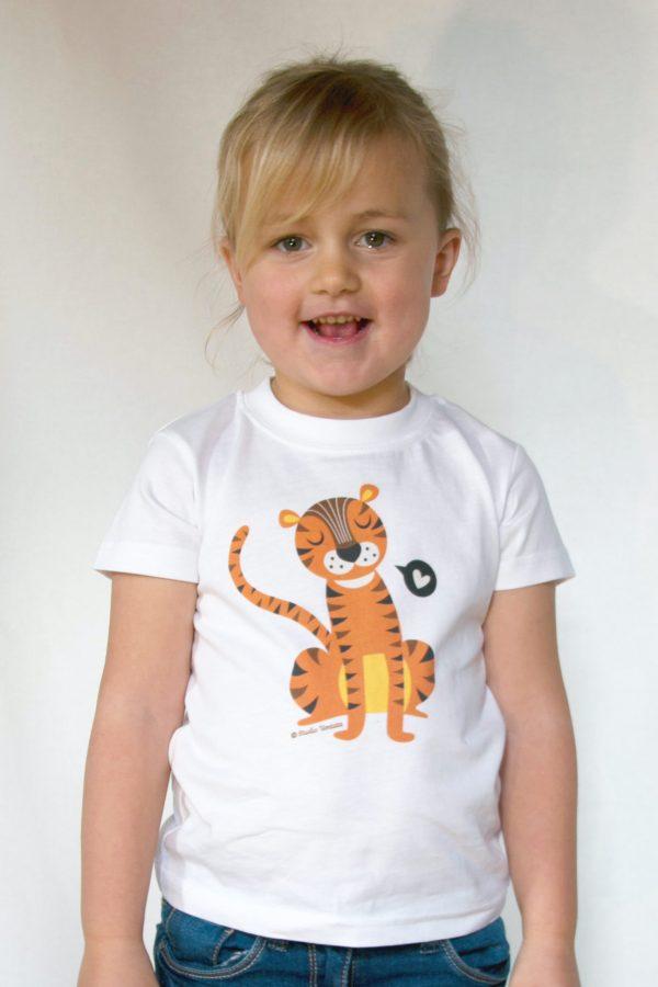Tiger love T-shirt - Vrolijk T-shirt met leuke tijger
