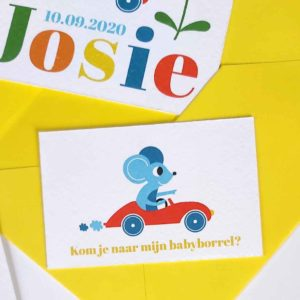 Babyborrelkaartje Josie