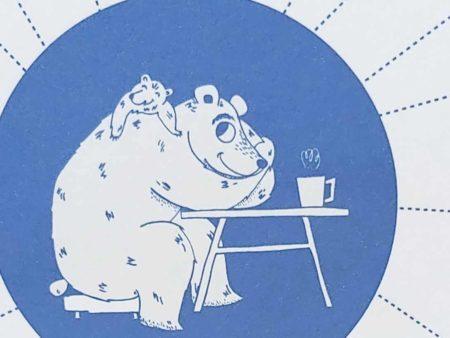 Wenskaart vaderdag beer