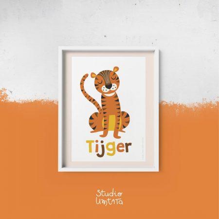 Retro poster tijger