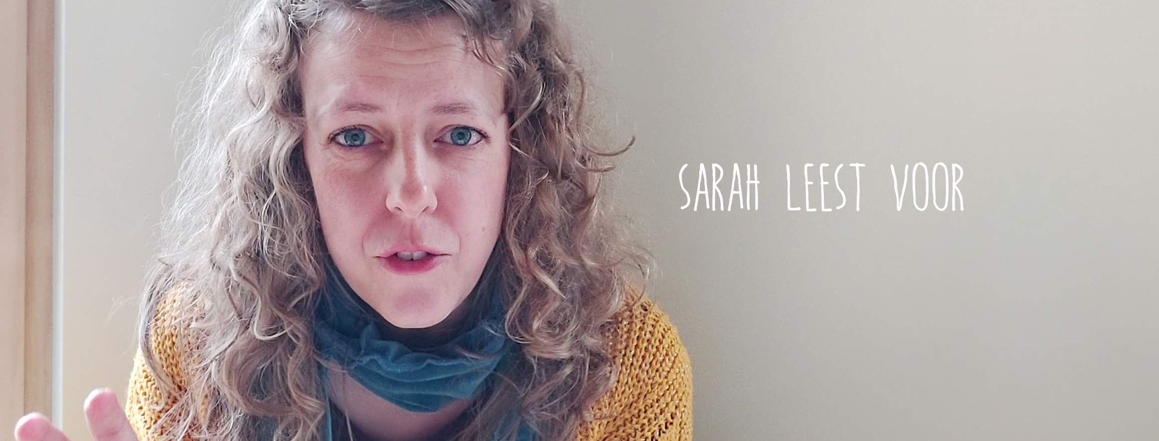 Sarah leest voor