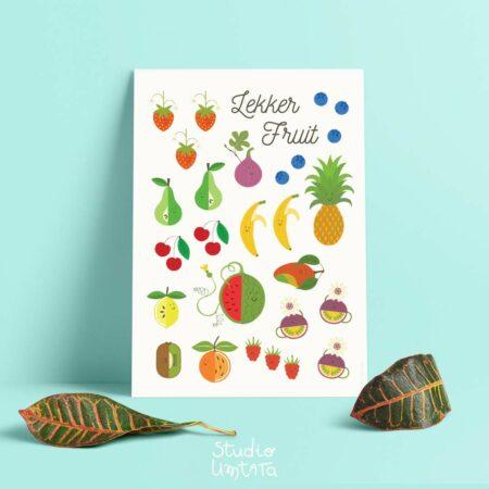 lekker fruit poster