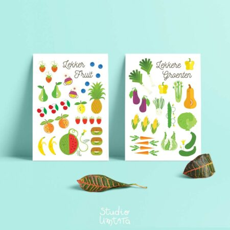 Posters Lekker fruit en lekkere groenten