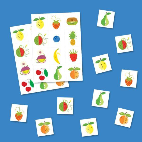 Mini memory spel fruit