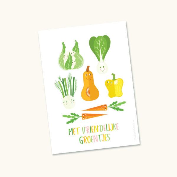 Wenskaart Met vriendelijke groentjes