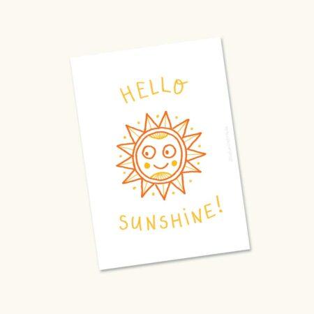 Wenskaart Zon Hello sunshine