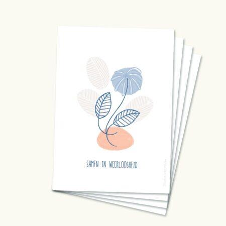 Rouwkaartjes met mooie tekst - Samen in weerloosheid