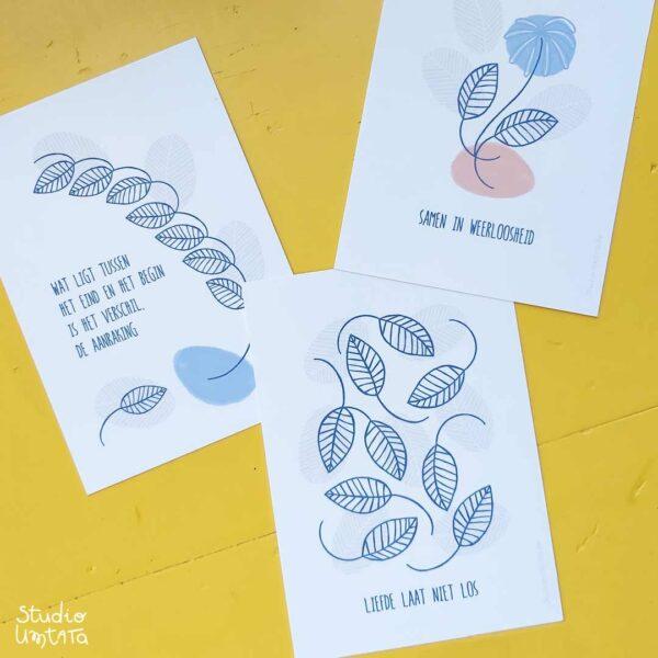 Rouwkaartje met mooie tekst - Liefde laat niet los
