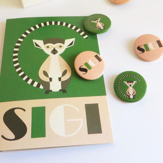 Geboortekaartje Sigi met buttons